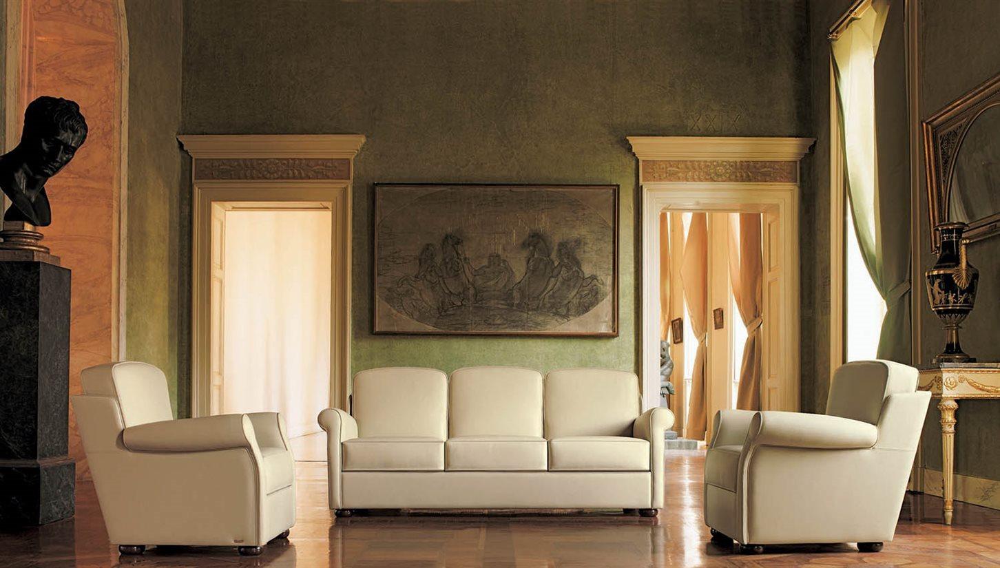 Divano in pelle cocooning mascheroni for Poltrone divani e divani