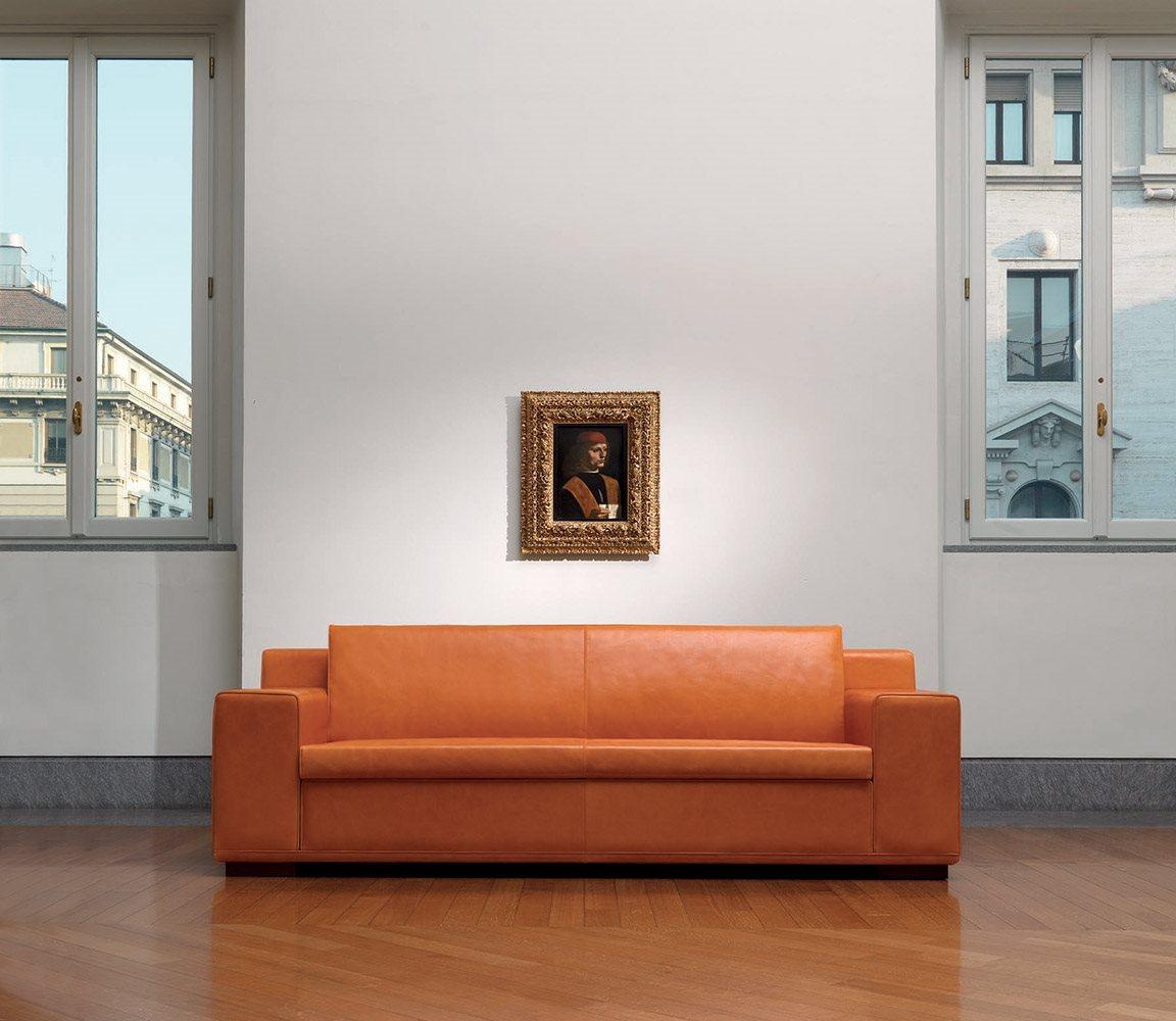 Divano in pelle kube mascheroni for Poltrone divani e divani